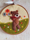Free Applique Pattern - Free Bear Applique - Teddy Bear Applique with Flowers or Balloons. - Sew Sweet Pea - 3d Applique Pattern