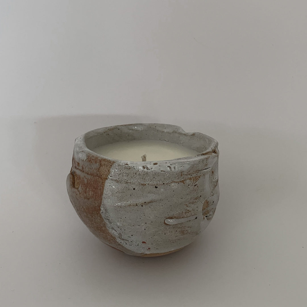 Copy SOIL and SALT - pure essential oil based candle in reusable handcrafted ceramic vessel