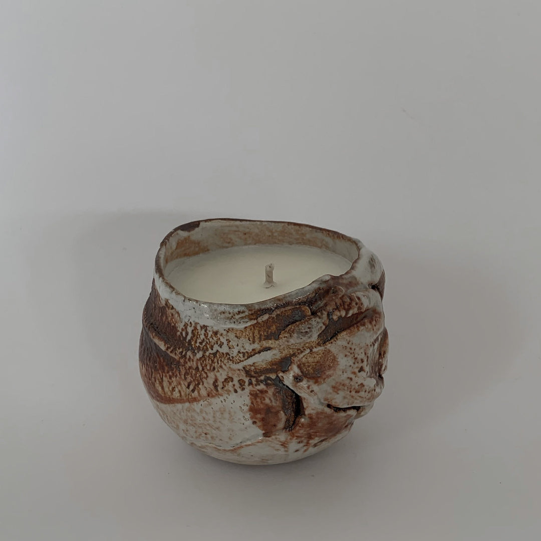 SOIL and SALT - pure essential oil based candle in reusable handcrafted ceramic vessel