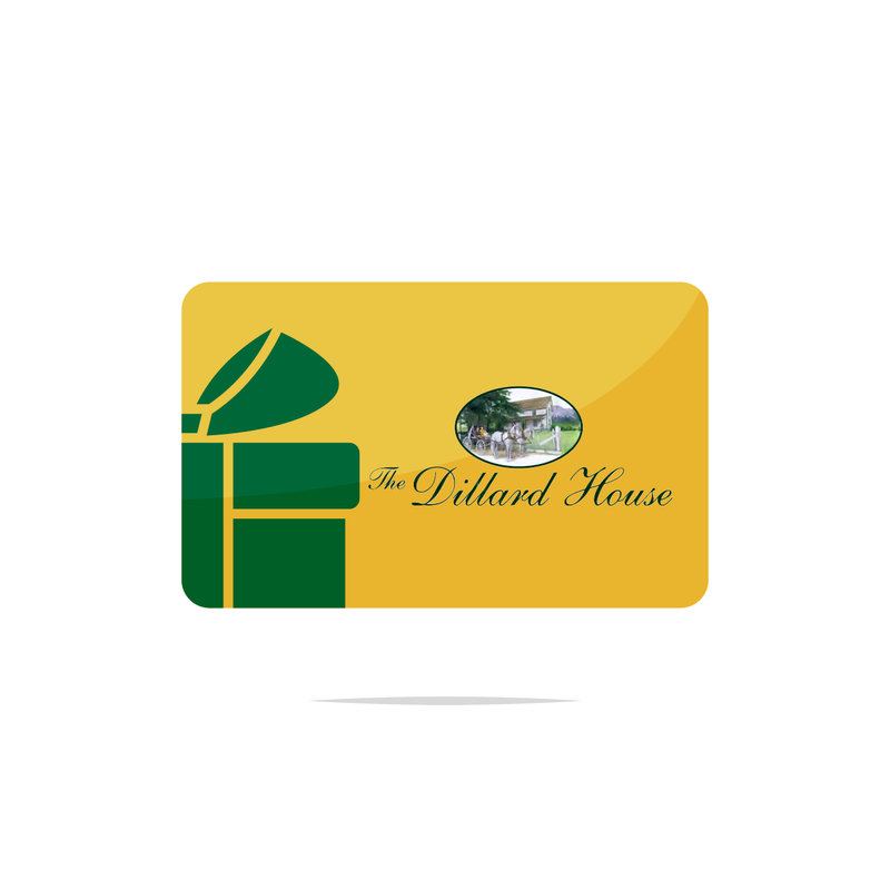 Gift Certificate - Choose Your Amount - Dillard House North Georgia Gifts