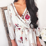 Better Tomorrow Midi Dress - White Floral