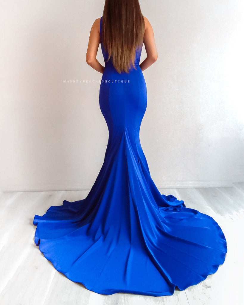 Olympia Gown by Jadore - Cobalt Blue