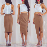 Second Chance Pencil Skirt - Brown