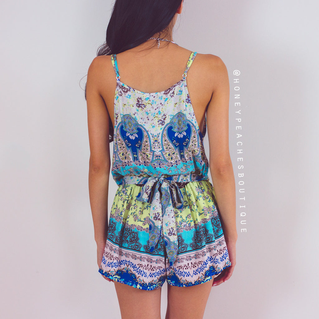 Brighter Than The Sun Playsuit - Blue