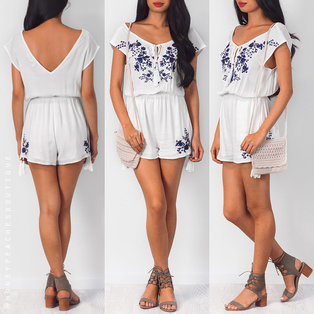 Wake You Up Playsuit - White