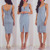 Don't Worry About Me Dress - Light Grey
