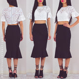 True Lover Cropped Top - White