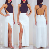 Beyond The Dreams Maxi Dress - Navy/White