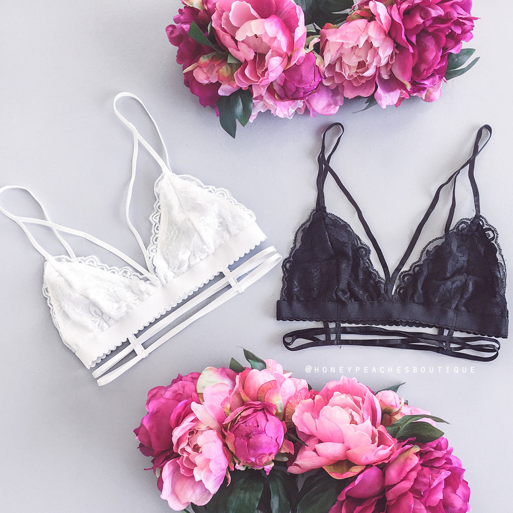 Sweet Lovin Lace Bralette - Black