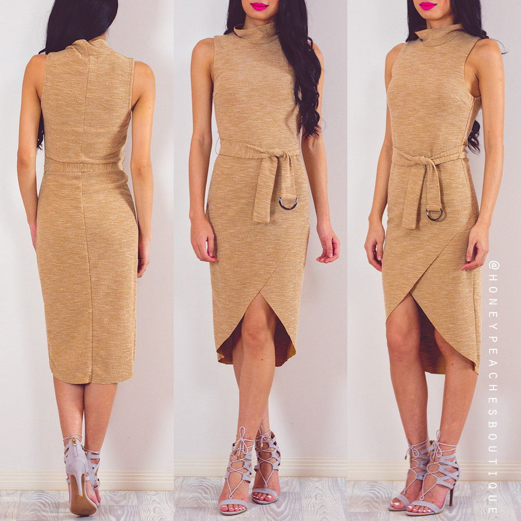 Change Of Seasons Midi Dress - Brown