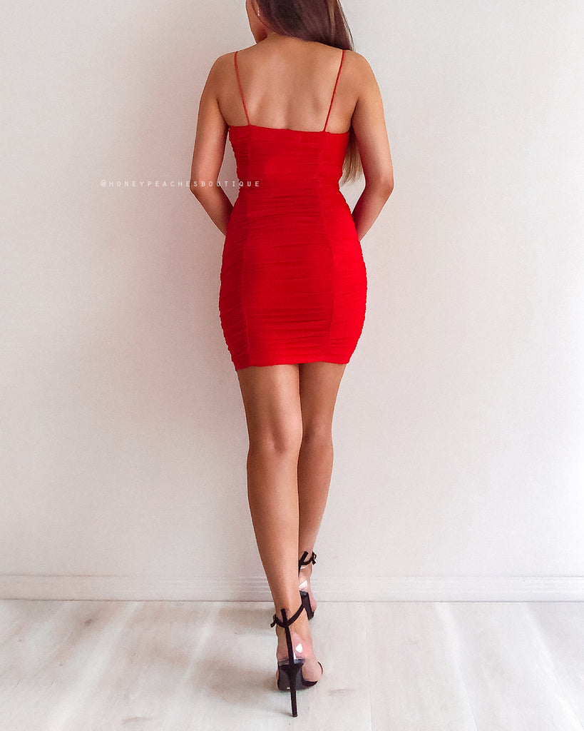 Rita Bodycon Dress - Red