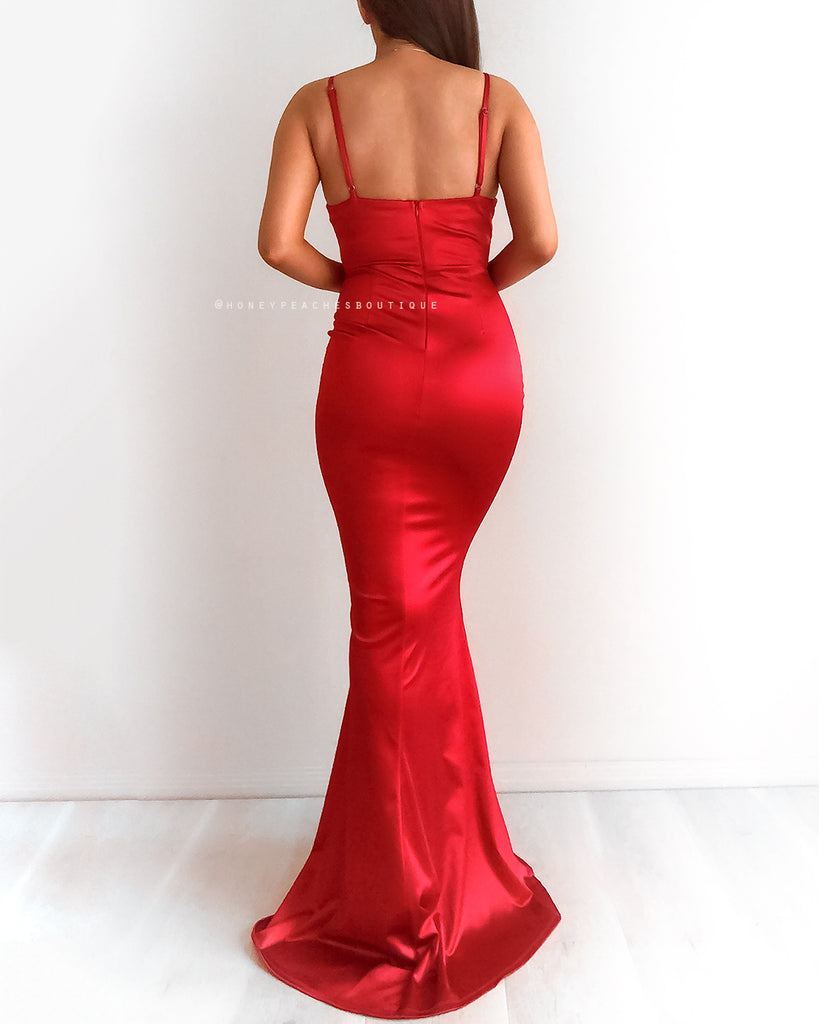 Alara Maxi Dress - Red