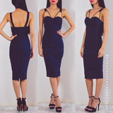 Through With Love Midi Dress - Dark Navy