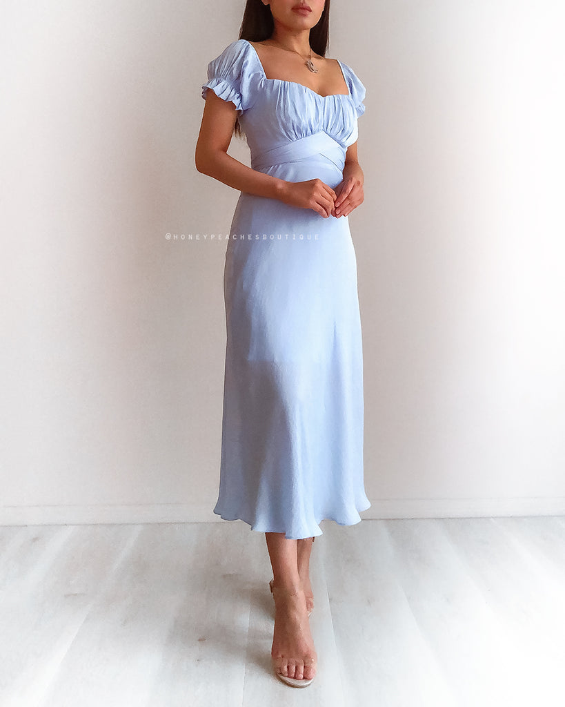 Dinah Midi Dress - Baby Blue