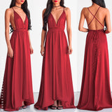 Lovers Lane Maxi Dress - Maroon