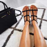 Taveti Black Suede Sandals by Billini