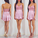 Don't Let Me Down Playsuit - Pink
