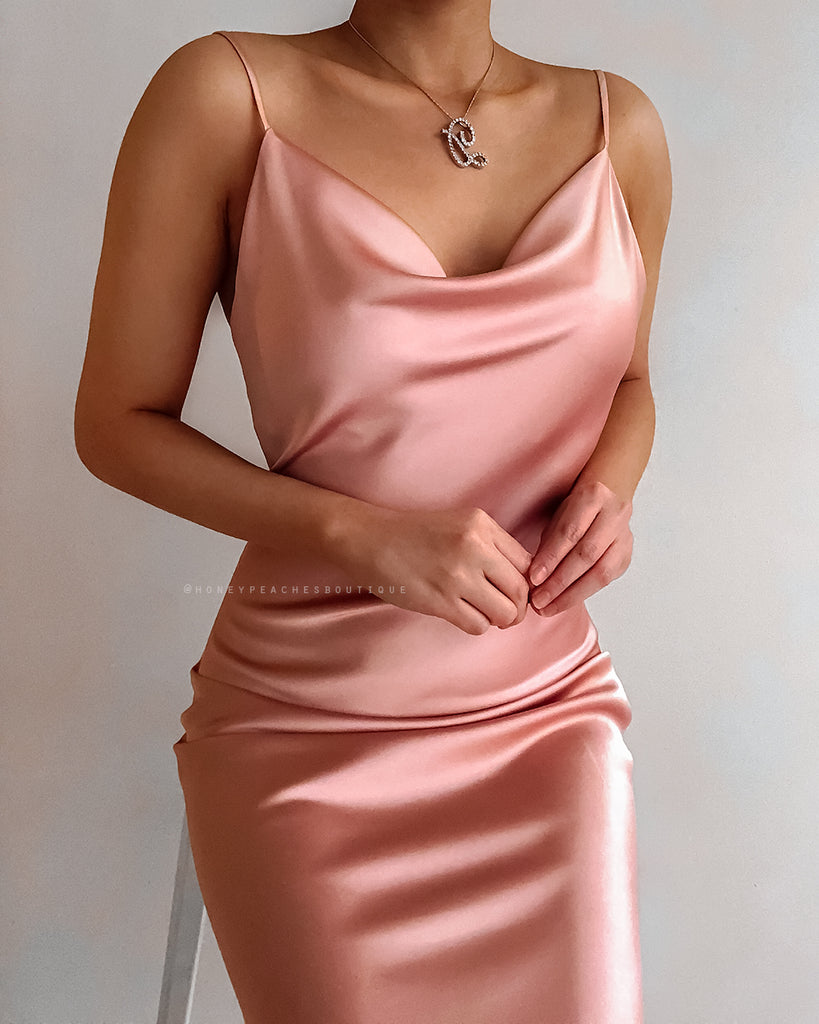 Pre-Order: Isabella Midi Dress - Dusty Pink
