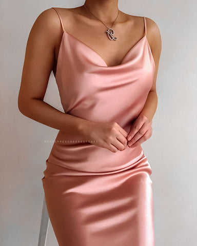 Gia Midi Dress - Champagne