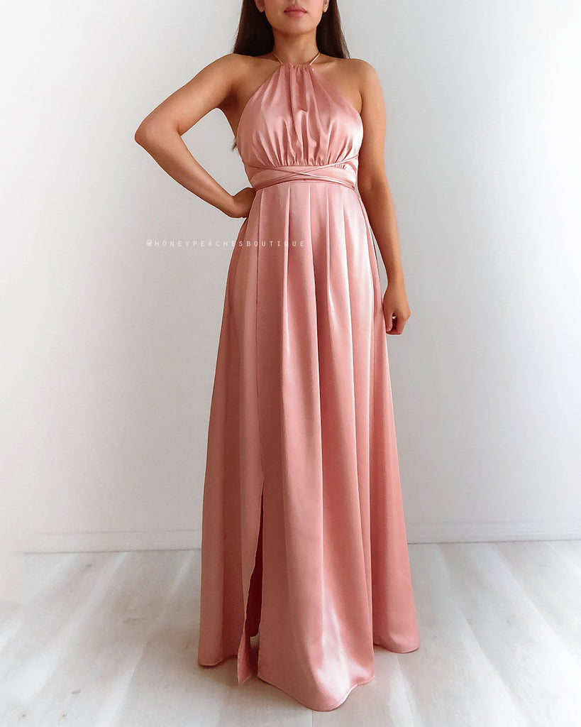 Loving You Is Easy Maxi Dress - Dusty Pink