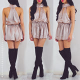 Never Let You Down Playsuit - Beige
