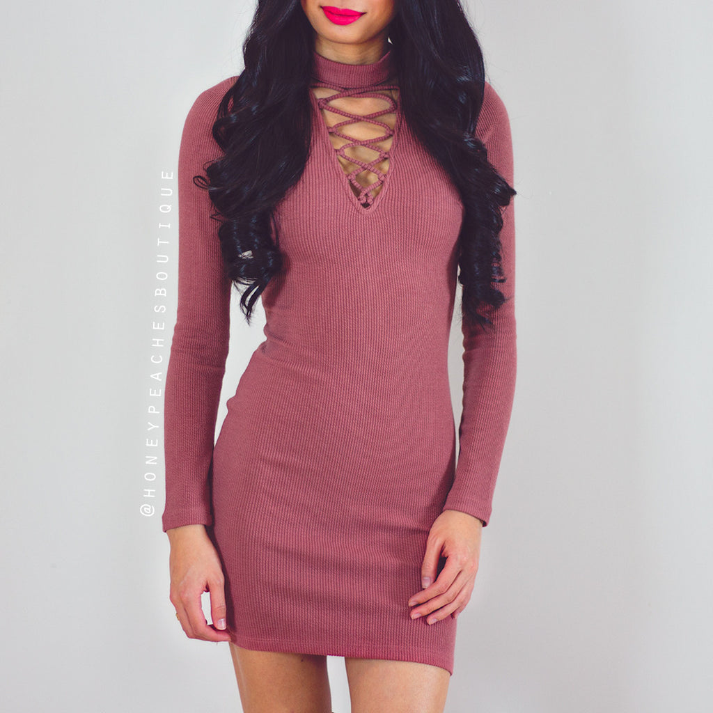 No One Will Ever Know Dress - Terracotta Pink