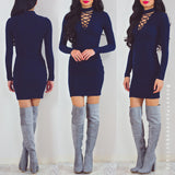 No One Will Ever Know Dress - Navy