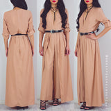 Afternoon Adventure Maxi Jumpsuit - Beige