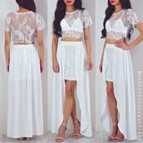 Send My Love Two Piece Maxi Dress Set - White