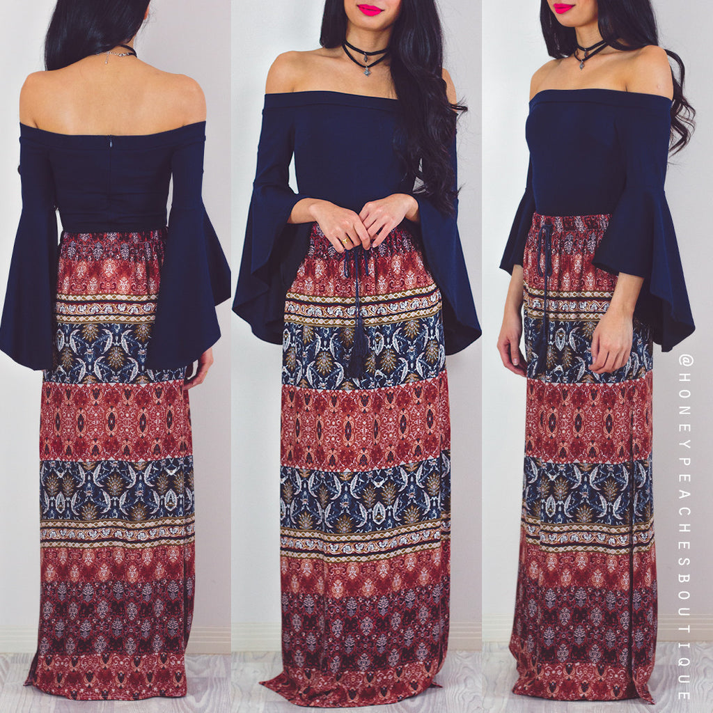 Against The Wind Maxi Skirt