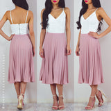 Thousand Miles Apart Pleated Skirt - Pink