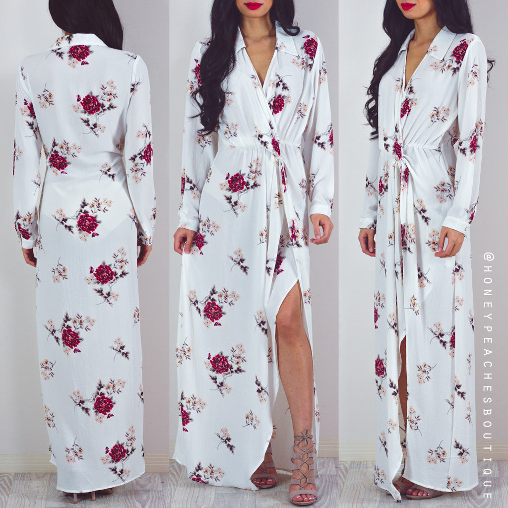 Make It Happen Maxi Dress - White
