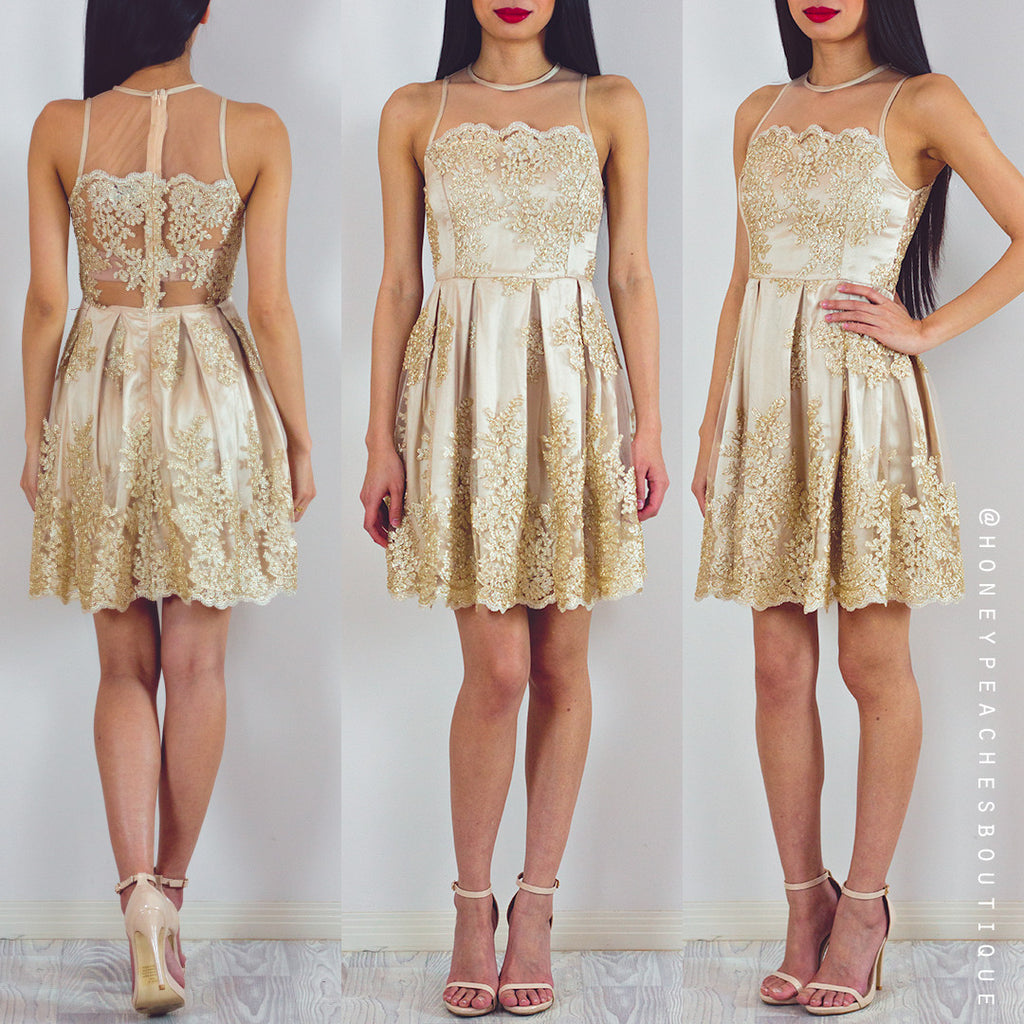 First Real Love Dress - Gold