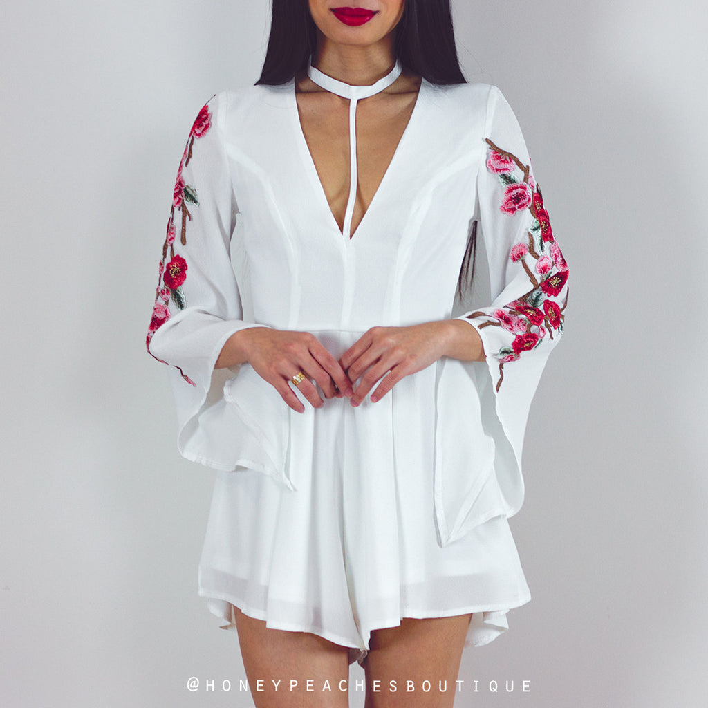 One More Chance Playsuit - White