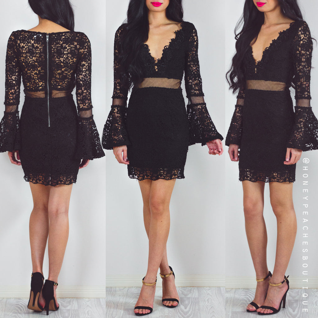 If I Was In Love Dress - Black