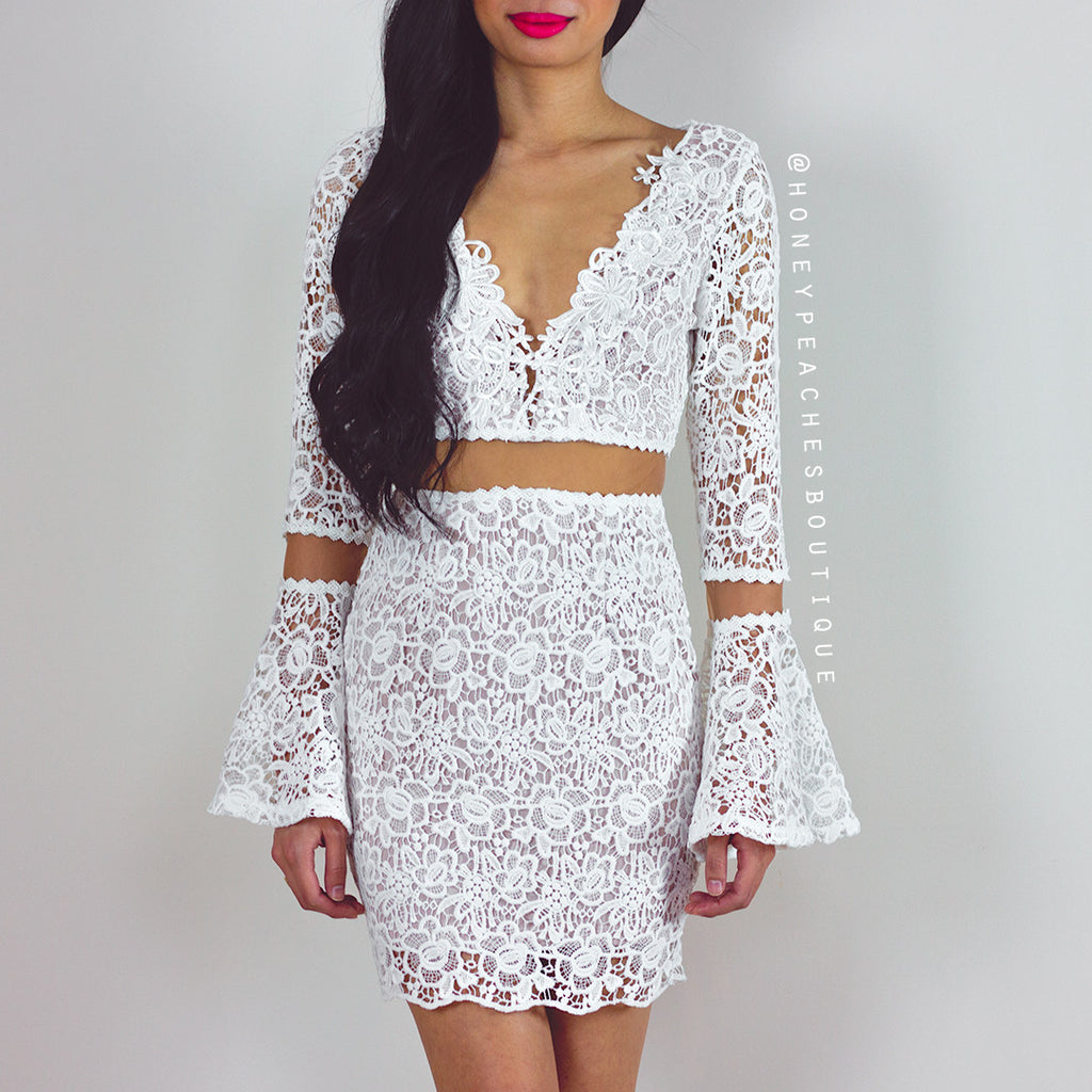 If I Was In Love Dress - White