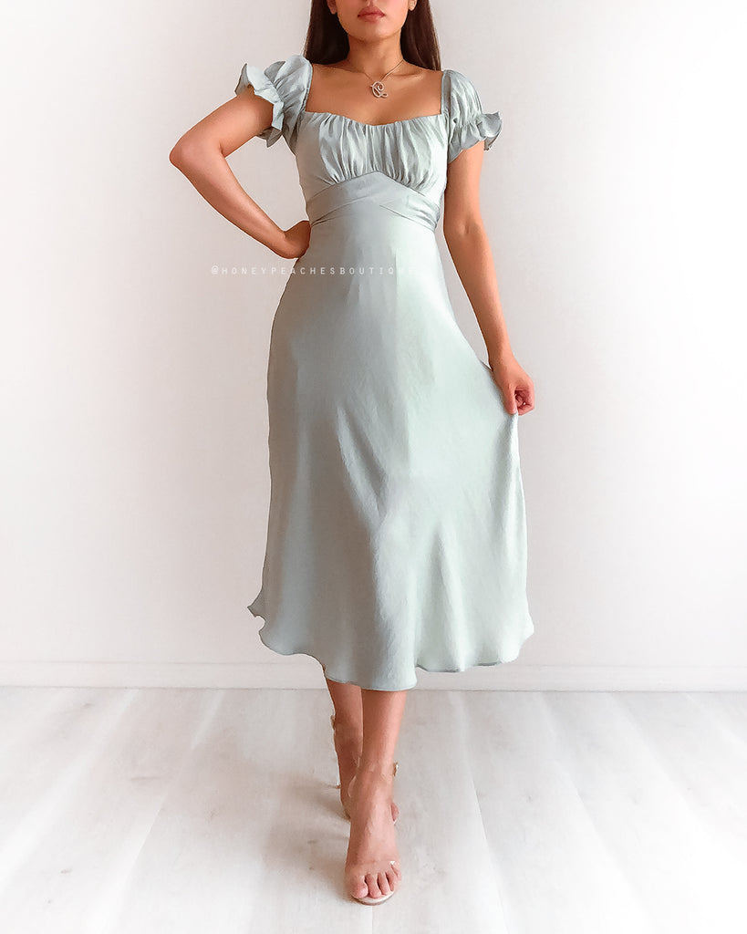 Dinah Midi Dress - Mint