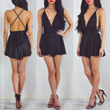 Life Of The Party Playsuit - Black