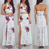 Limitless Lace Maxi Dress Set - White