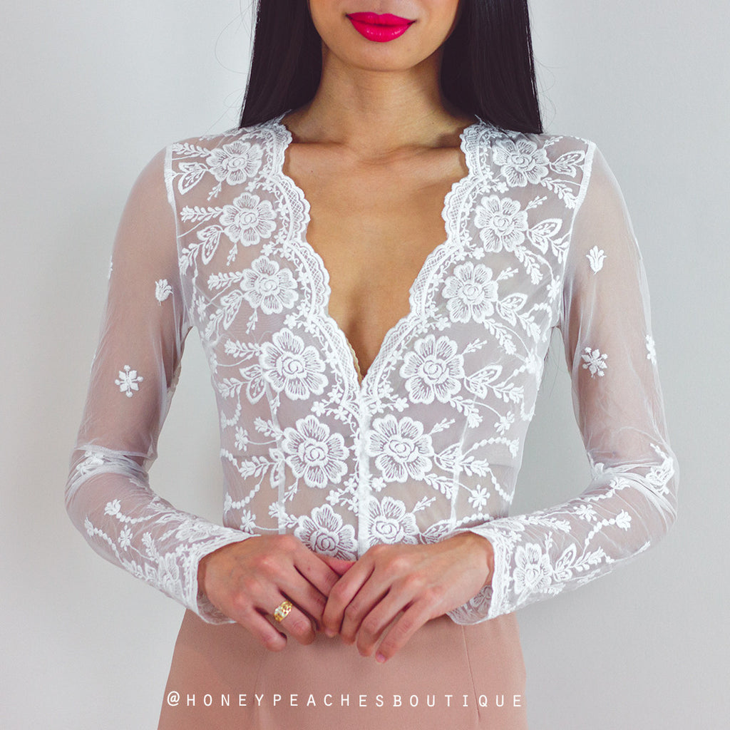 Starlight Bodysuit - White