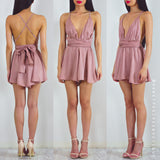 Life Of The Party Playsuit - Dusty Pink