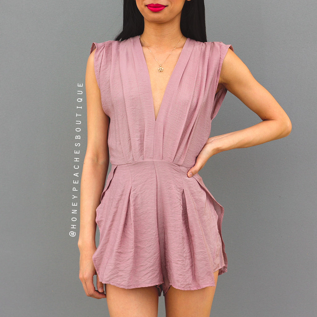 This Feeling Playsuit - Dusty Pink