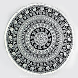 Taliah Mandala Throw - Black Print