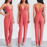 No Broken Hearts Jumpsuit - Terracotta Pink