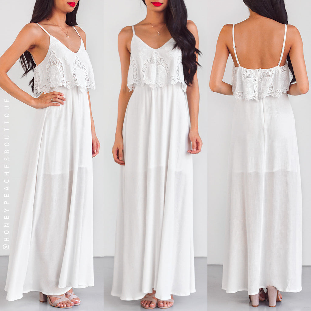 Set You Free Maxi Dress - White