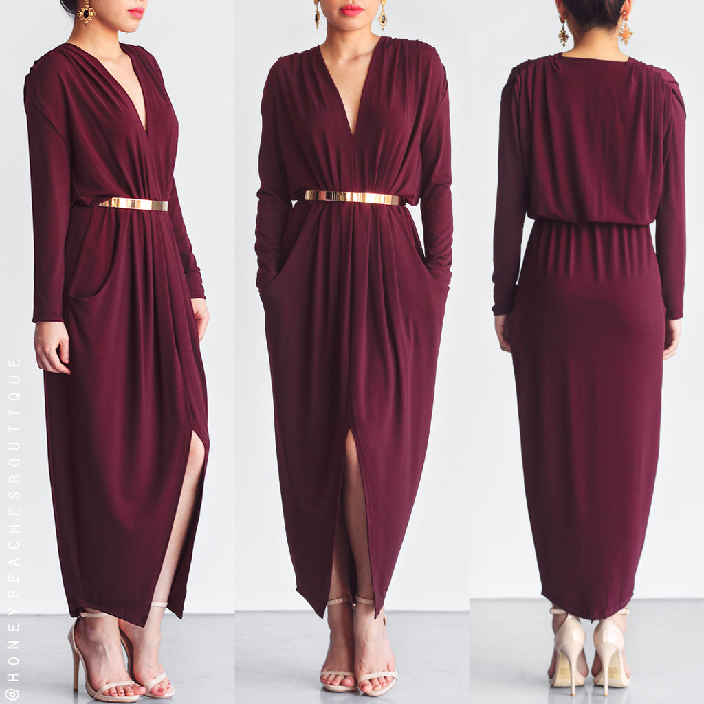 Take It From Here Dress - Mulberry