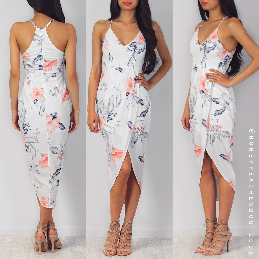 Forever With Me Dress - White Floral