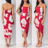 On To Better Things Dress - Red Floral