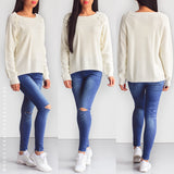 Don't Give Up Knit Sweater - Cream