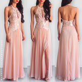 Last Forever Sequin Maxi Dress - Peach